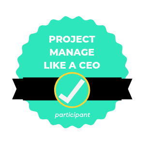 Project Manage like a CEO BADGE